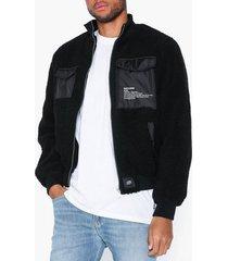 sixth june sherling cargo jacket jackor black
