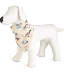 matching pet snow day family pajamas bandana, created for macy's