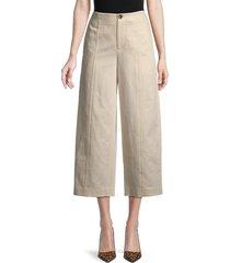 vince women's high-waist utility pants - flax - size 2