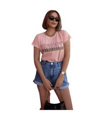 blusa in love t-shirt sonhadora rose