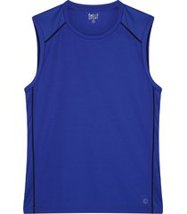 camiseta hombre m/s contraste color azul, talla xs