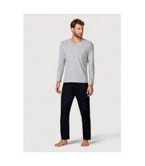 pijama hering longo malha masculino