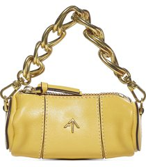 manu atelier cylinder micro leather bag