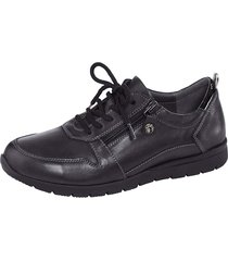skor med snörning och dragkedja naturläufer svart