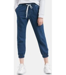 levi's jet set cotton denim jogger pants