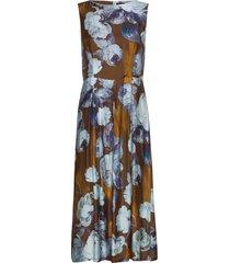 3390 - ony jurk knielengte multi/patroon sand