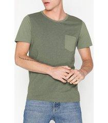 selected homme slhinka ss o-neck tee b t-shirts & linnen grön