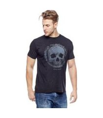 camiseta evolvee brightness skull masculina