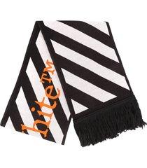 off-white off white tm scarf black white