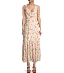 sanctuary women's perfect melody dress - poppy field - size 8