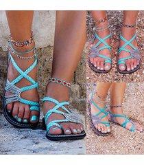 sandali infradito con corda intrecciata