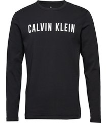 long sleeve tee t-shirts long-sleeved svart calvin klein performance
