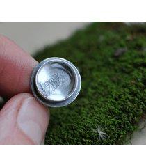 personalizowany srebrny pierścionek