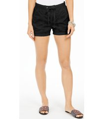 style & co poplin tie shorts, created for macy's