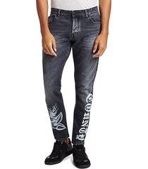 light wash skinny-fit jeans