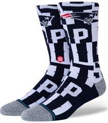 men's stance branded new england patriots socks, size large - blue