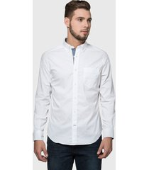 camisa nautica lisa blanco - calce regular