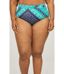 lane bryant women's high-waist swim brief 20 greenlake scarf print