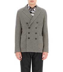 micro patterned blazer