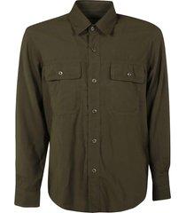 ami alexandre mattiussi dual buttoned pocket shirt