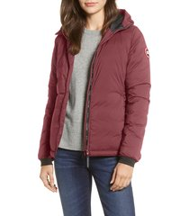 women's canada goose camp down hooded water resistant jacket, size x-large (16-18) - purple