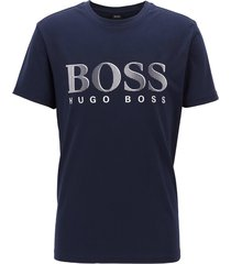 hugo boss heren logo t-shirt - navy