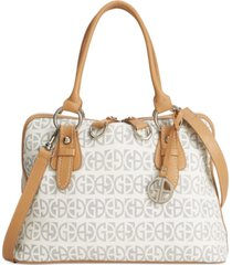 giani bernini block signature dome satchel, created for macy's