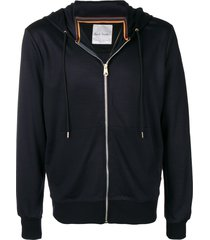 paul smith knitted relaxed hoodie - blue