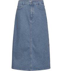 a-line skirt 1 knälång kjol blå boss