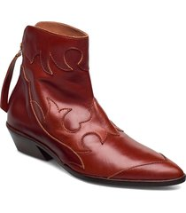 stb-miquita l shoes boots ankle boots ankle boot - heel röd shoe the bear