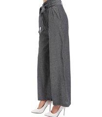 pantalón rayas ancho negro nicopoly
