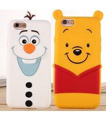 cute 3d cartoon olaf winnie the pooh soft case for iphone 5 5s 6 6s/6 6s plus