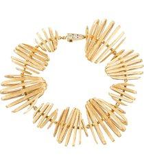annoushka 18kt yellow and white gold garden party diamond bracelet -