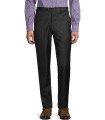 armani collezioni men's wool flat-front pants - black - size 54 (38)
