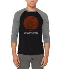 men's occupy mars raglan baseball word art t-shirt