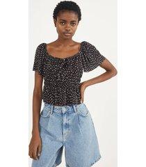 geplisseerde blouse met print