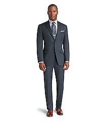 reserve collection tailored fit plaid men's suit - big & tall clearance by jos. a. bank