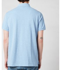 polo ralph lauren men's custom slim fit mesh polo shirt - jamaica heather - xxl