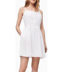 vestido regular strap blanco calvin klein