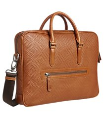 jos. a. bank embossed leather briefcase clearance