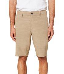 men's o'neill locked slub board shorts, size 33 - beige