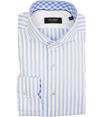 olymp signature shirt blauw gestreept