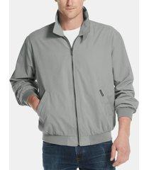 weatherproof microfiber bomber jacket