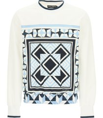 dolce & gabbana majolica print sweatshirt