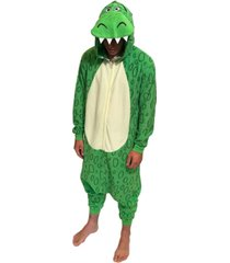 t-rex men's one piece hooded pajama, online only
