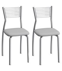 conjunto de cadeiras aço carbono compoarte barcelona 2 peças c123