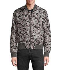 john varvatos men's conway camo bomber jacket - sting ray - size xxl
