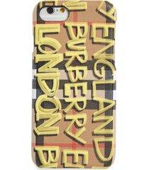 burberry rufus graffiti print iphone 8 case - yellow