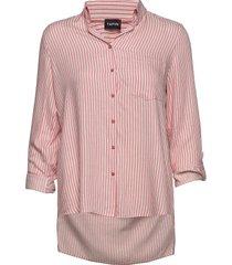 blouse long-sleeve blus långärmad rosa taifun