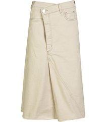 erika cavallini mid-length buttoned skirt